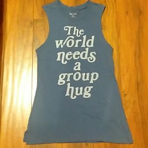 The World Needs a Group Hug Ladies Tank top xxs